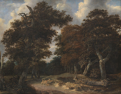 Jacob Isaacksz. van Ruisdael - Road through an Oak Forest - Google Art Project