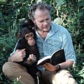 Jacques Coetzer reading Genesis 1 with chimpanzee, Uganda, 2013.jpg