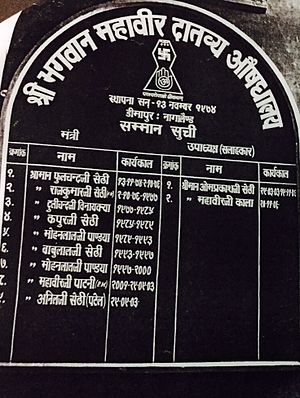 Phulchand Sethi - Image: Jain Hospital Board