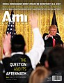 Jake Turx, featured on the cover of Ami Magazine, following his viral exchange with President Trump at Trump's first press conference as president.jpg