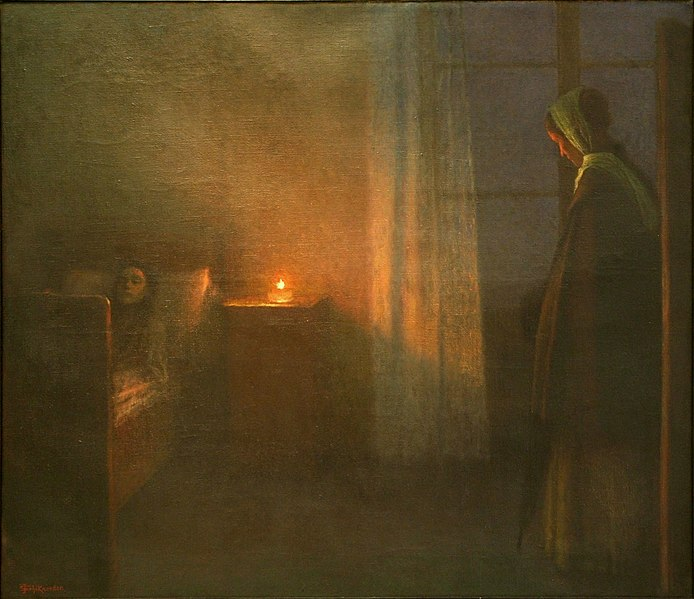 File:Jakub Schikaneder - By the Girl's Bed.jpg