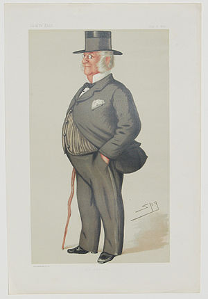 """James Dalrymple-Horn-Elphinstone - """"The Admiral"""". Caricature by Spy published in Vanity Fair in 1878"""