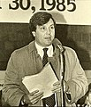 James O'Leary at Alewife station opening, March 1985.jpg