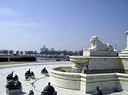 James Scott Fountain - Detroit skyline