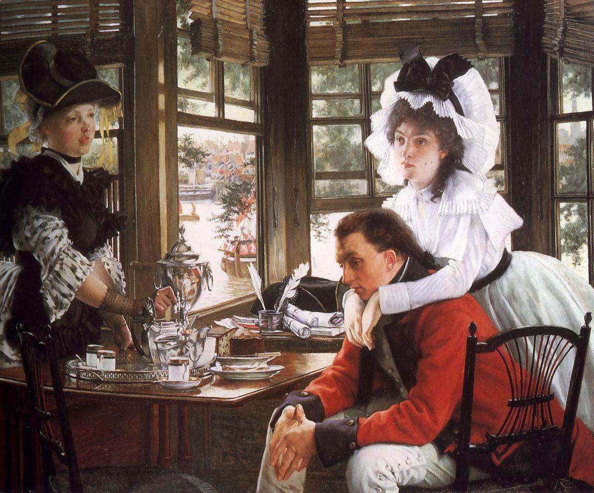 """Картинки по запросу """"Bad News by James Jacques Joseph Tissot, 1872"""""""