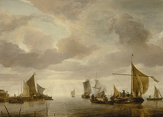 Shipping Scene in a Calm Sea