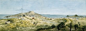 Fremantle - Jane Eliza Currie (wife of explorer Mark John Currie), Panorama of the Swan River Settlement, ca. 1831
