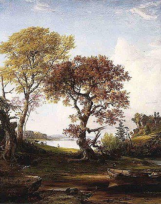 Piermont, New York - The Hudson at Piermont (1852) by Jasper Francis Cropsey