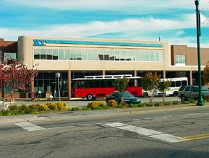 Johnson City, Tennessee - The transit center in downtown Johnson City