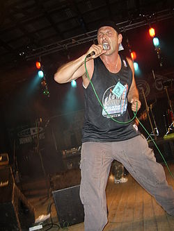 Jeff Geggus at Cockney Rejects concert at Antifest in Czech Republic SSA47294.jpg
