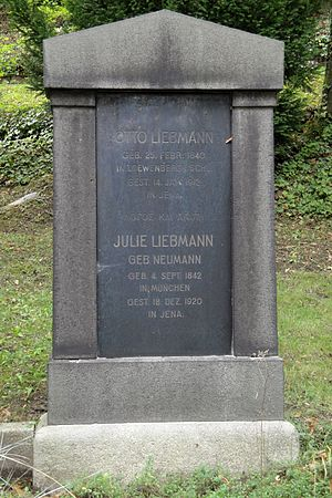 Otto Liebmann - Grave at the Nordfriedhof in Jena