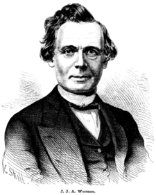 Jens Jacob Asmussen Worsaae from Familj-Journalen1885.png