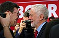 Jeremy Corbyn, Leader of the Labour Party (UK) (right) with Andy Burnham, Mayor of Greater Manchester.jpg