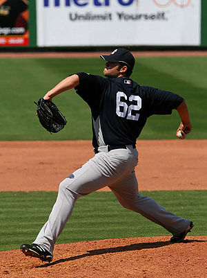 Joba Chamberlain - Chamberlain during 2008 spring training