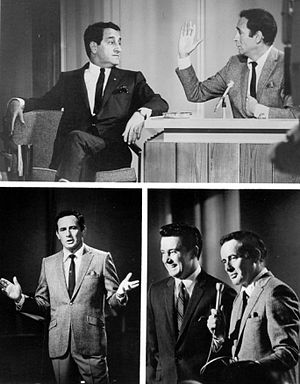 The Joey Bishop Show (talk show) - Bishop with guest Danny Thomas and sidekick Regis Philbin, 1967.
