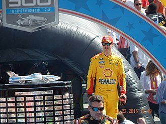 2015 SpongeBob SquarePants 400 - Joey Logano, seen here at the 2015 Daytona 500, won the pole for the SpongeBob SquarePants 400.