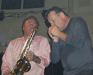 Southside Johnny - Southside Johnny and saxophonist Joey Stann in 2007