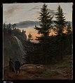 Johan Christian Dahl - Two Men before a Waterfall at Sunset - Metropolitan Museum of Art - DP319598 - 2019.167.3.jpg