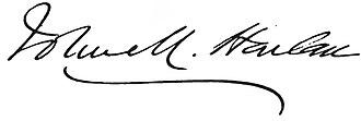 John Marshall Harlan - Image: John Marshall Harlan sig