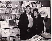 John Dolphin and his wife Ruth Dolphin at Dolphin's of Hollywood Record Shop