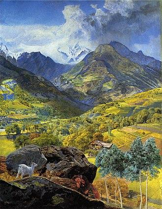 John Brett (artist) - The Val d'Aosta, 1858