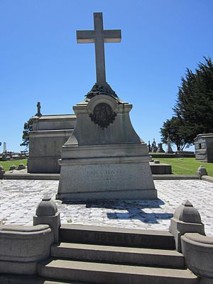 John G. Downey - Downey's grave at Holy Cross