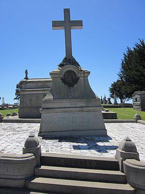 John G. Downey - Downey's grave at Holy Cross