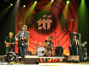 John Hiatt - Hiatt and his backing band, The Combo, 2012