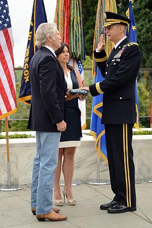 Daniel R. Hokanson - Hokanson being sworn in as adjutant general by Oregon Governor John Kitzhaber
