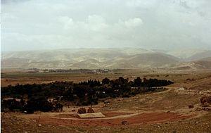 Moab - Moab mountain range viewed from Jordan Valley