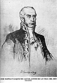 José Matías Pascual Cayetano Vásquez de Acuña Menacho y Ribera de Mendoza. VII Conde de la Vega del Ren, Señor de los Mayorazgos de Menacho y Morga, Caballero de la Orden de Santiago.jpg