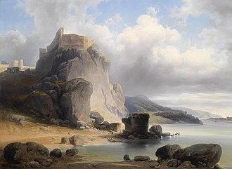 Devín Castle - Devin castle in 1864