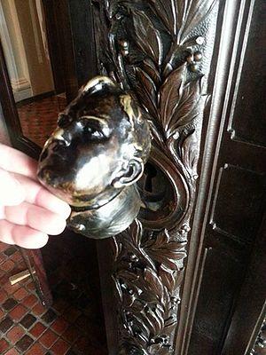 Joseph Miller Huston - Huston bust on PA capitol main door keyhole