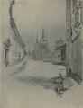 Joseph Pennell (1903) calle Santa Úrsula de Alcalá de Henares.png