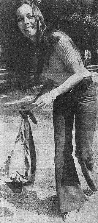 Josephine Chaplin - Josephine Chaplin in Villa Borghese gardens, Rome, 1971.