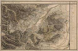 Hunedoara în Harta Iosefină a Transilvaniei, 1769-73.(Click pentru imagine interactivă)