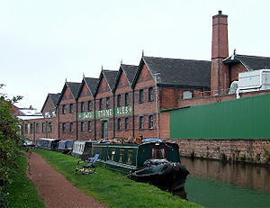 Stone, Staffordshire - The warehouse of Joule's Brewery, on the Trent and Mersey Canal at Stone