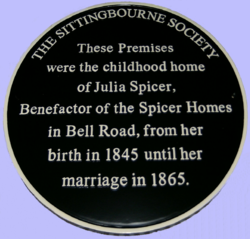 Photo of Julia Spicer black plaque