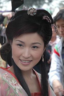 June Chan at the 2005 Hong Kong flower show.jpg