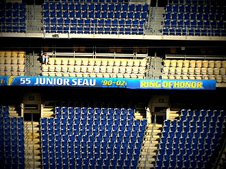 Los Angeles Chargers Hall of Fame - Junior Seau honored at the Chargers Ring of Honor in San Diego