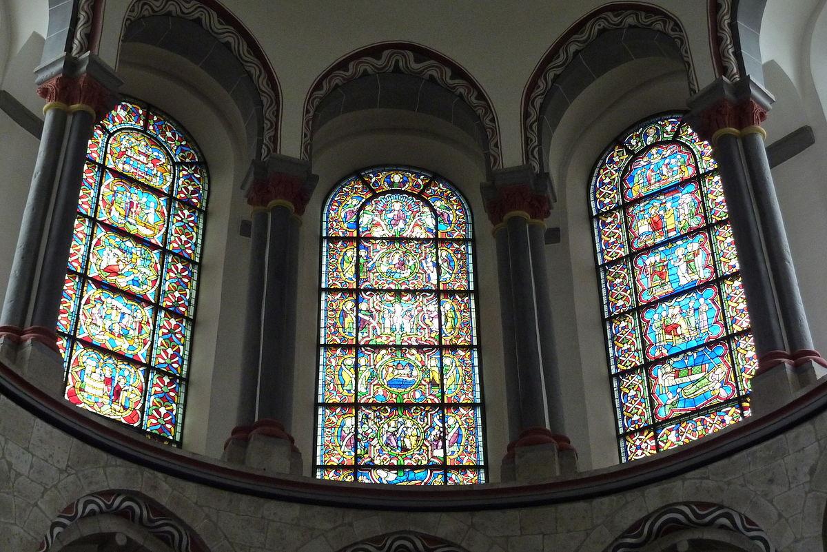 romanische glasfenster von st kunibert in k ln wikipedia. Black Bedroom Furniture Sets. Home Design Ideas