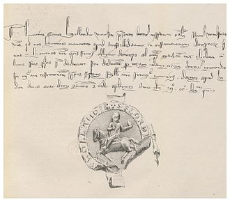 History of Amsterdam - The GIFT-LETTER of 1275.