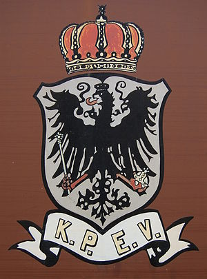 Prussian state railways - KPEV Emblem on a Prussian luggage van