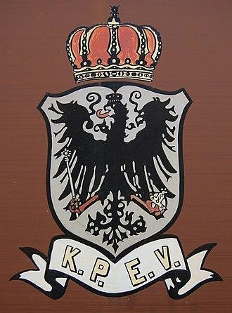 Royal Prussian Railway Administration - KPEV Emblem on a Prussian luggage van