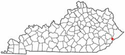 Location of McRoberts, Kentucky