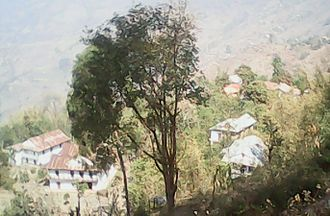 Suman Pokhrel - A view of Pokhrel's ancestral village Kachide