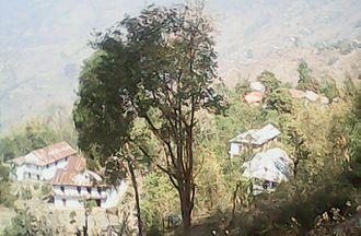 Suman Pokhrel -  A view of Pokhrel's ancestral village Kachide