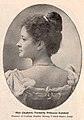 Kaiulani in profile, wearing pearl necklace, posting for a camera with back turned, photograph by J. J. Wiilams, published in Picturesque Cuba, Porto Rico, Hawaii and the Philippines.jpg