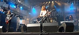 Kalmah - Finnish melodic death metal band Kalmah  live at Jalometalli 2008 in Oulu.