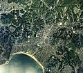 Kamakura historical sites area Aerial photograph.1988.jpg
